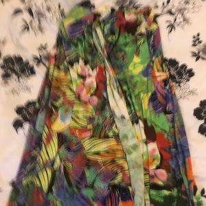 A long maxi sundress with beautiful colors